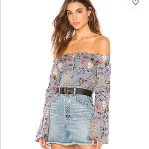Bailey 44 butterfly off shoulder blouse